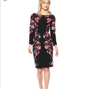 Eliza J Floral Crepe Shift Dress